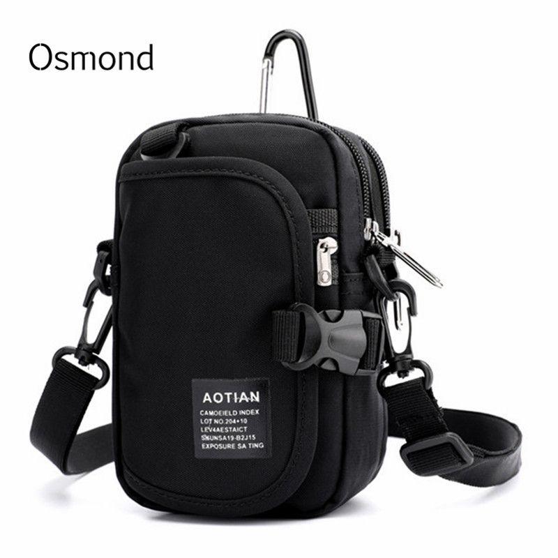 Sac de taille pour homme Osmond portefeuille pour téléphone portable sac de taille pour homme en Nylon noir sac à bandoulière étanche pour femme sac drôle Bolso