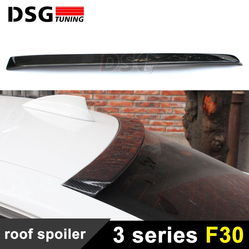 F30 Roof Spoiler Carbon Fiber Style Roof Window Spoiler Lip For BMW 3 Series F30 Sedan Saloon 2012 - IN