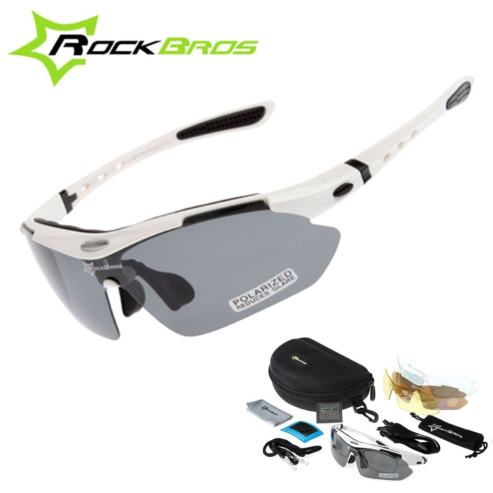 Hot! RockBros Polarized Cycling Sun Glasses Outdoor Sports Bicycle clismo <font><b>Road</b></font> Bike MTB Sunglasses TR90 Goggles Eyewear 5 Lens
