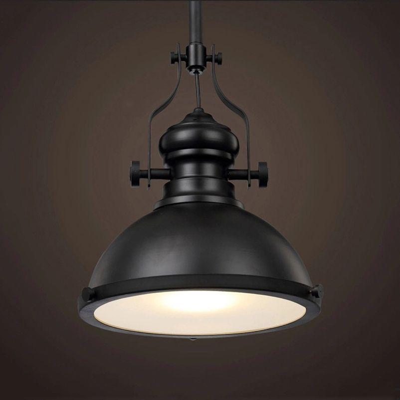 Vintage Loft salle à manger Café Restaurant bar cave rétro fer pendentif lampe L'industrie mineur en toute sécurité lumière pendentif lumière phare