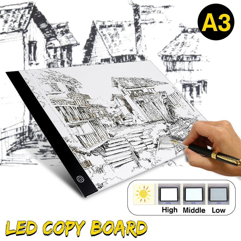 A3 LED Drawing Pad Tablet Drawing Pad Box Board Drawing Tracing Tracer Copy Board Table Pad Led Light Pad Copy Board Stencil