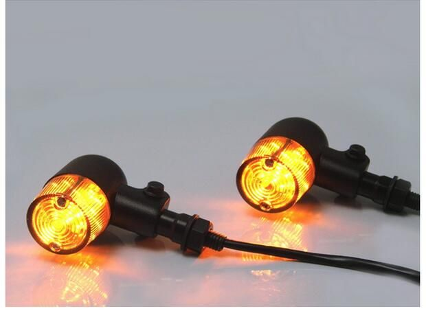 1pair Motorcycle accessories aluminum side of the direction of turning lights Halley motorcycle modified retro style turn lights