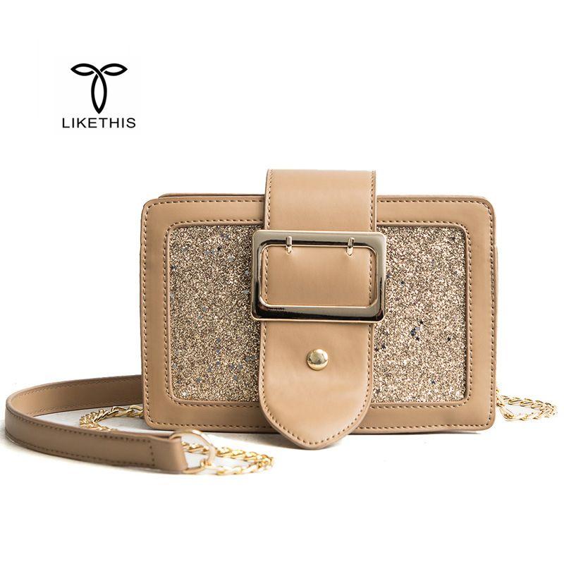Women Luxury Handbag Chains PU Leather Flap Bag Female Solid Color Fashion Brand Evening Clutch Party Ladies Messenger Bag