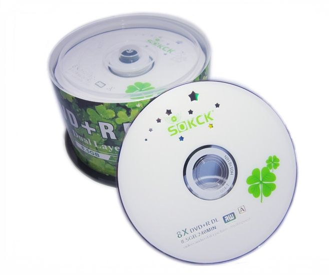 Wholesale DVD+R 8.5GB dual layer D9 8X 240min 50pcs/lot free shipping