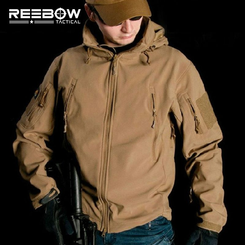 <font><b>V4.0</b></font> Waterproof Soft Shell Tactical Jacket Outdoor Hunting Sports Army SWAT Military Training Windproof Outerwear Coat Clothing