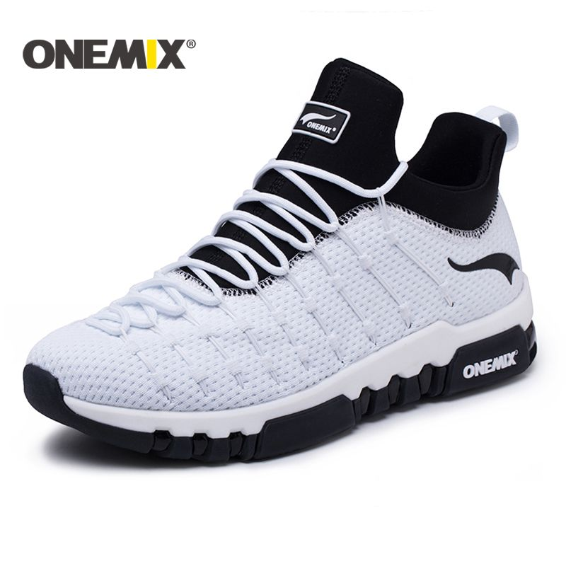 Onemix 2018 running shoes for men hight sneakers outdoor trekking women breathable sneakers walking running shoes Free shipping