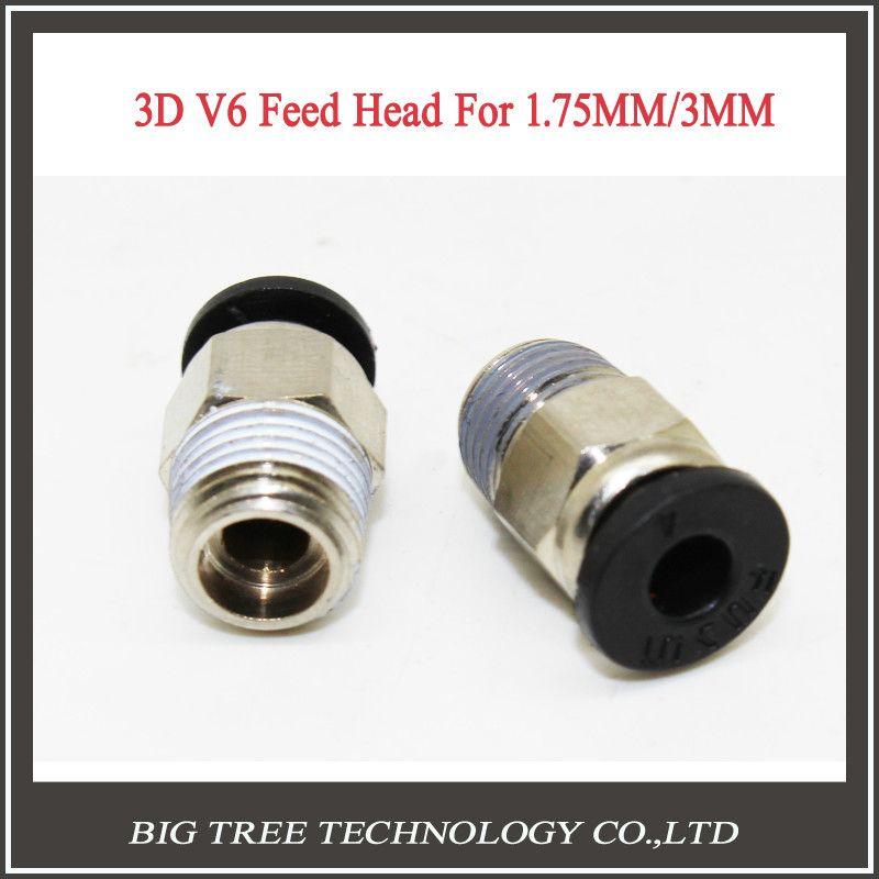 50 шт. 3D принтер hotend j-руководителя 3D V6 удаленного горячие головы/разъем экструдер RSS 3 мм/ 1.75 мм тефлон