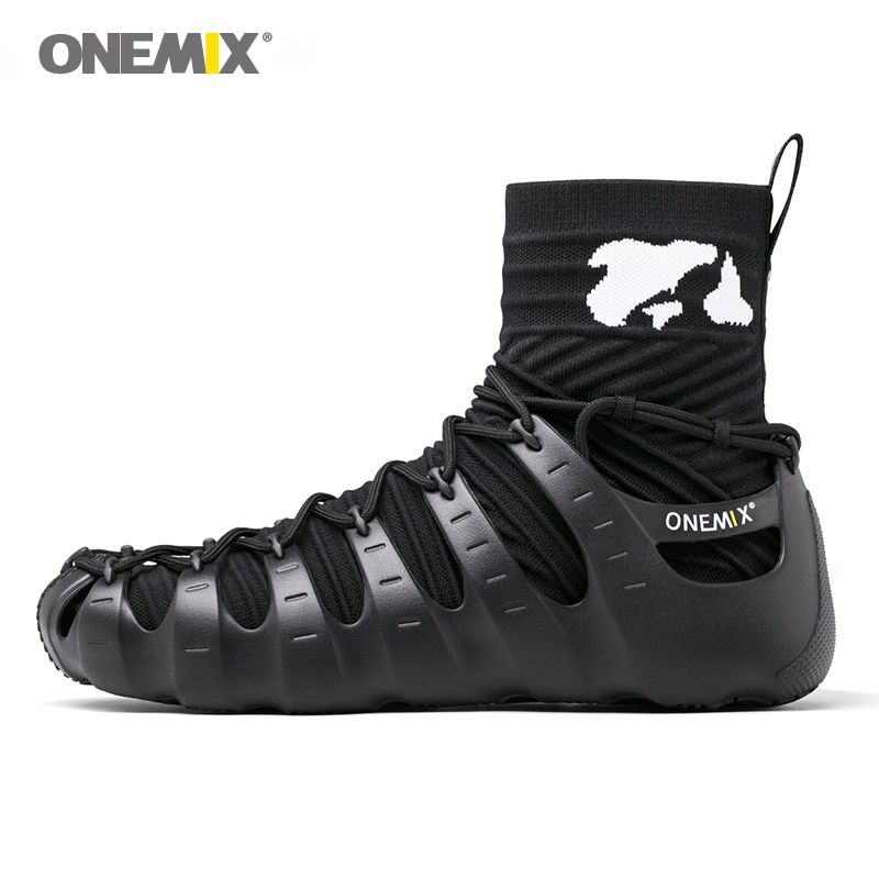 onemix men sport sneakers outdoor 1 shoes 3 wearing jogging walking sneakers sock-like sneakers environmentally friendly shoes