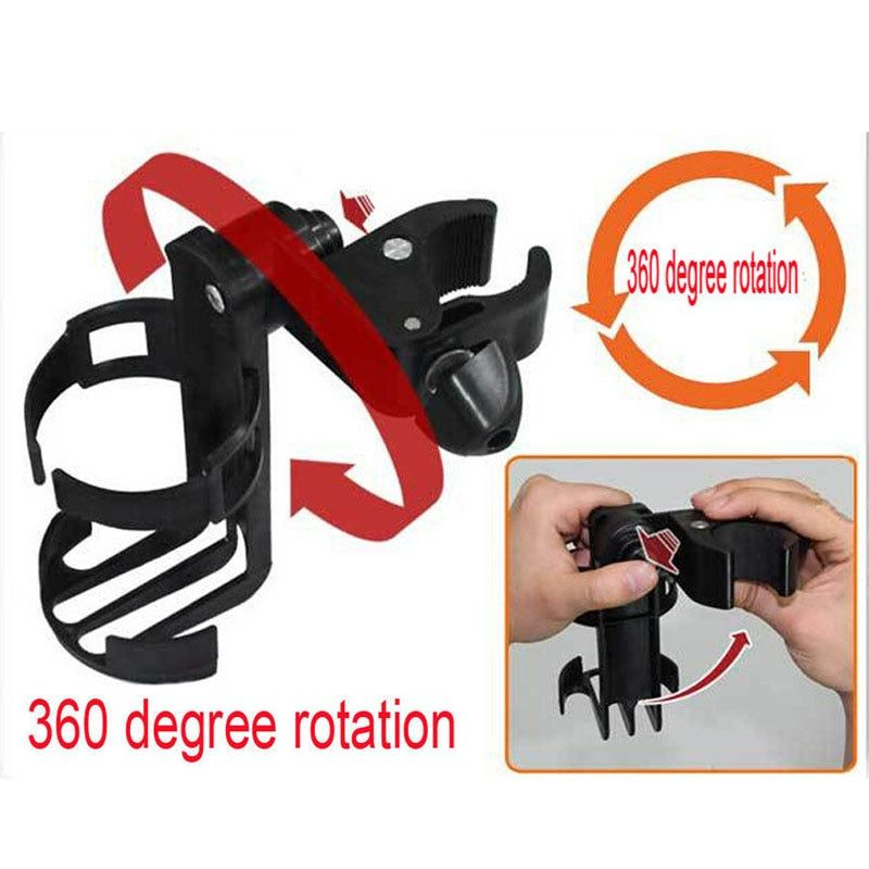 Baby Infant Stroller Bicycle Carriage Cart Accessory Bottle Cup Holder Adjustable 360 Degree Roating Baby Stroller Accessory