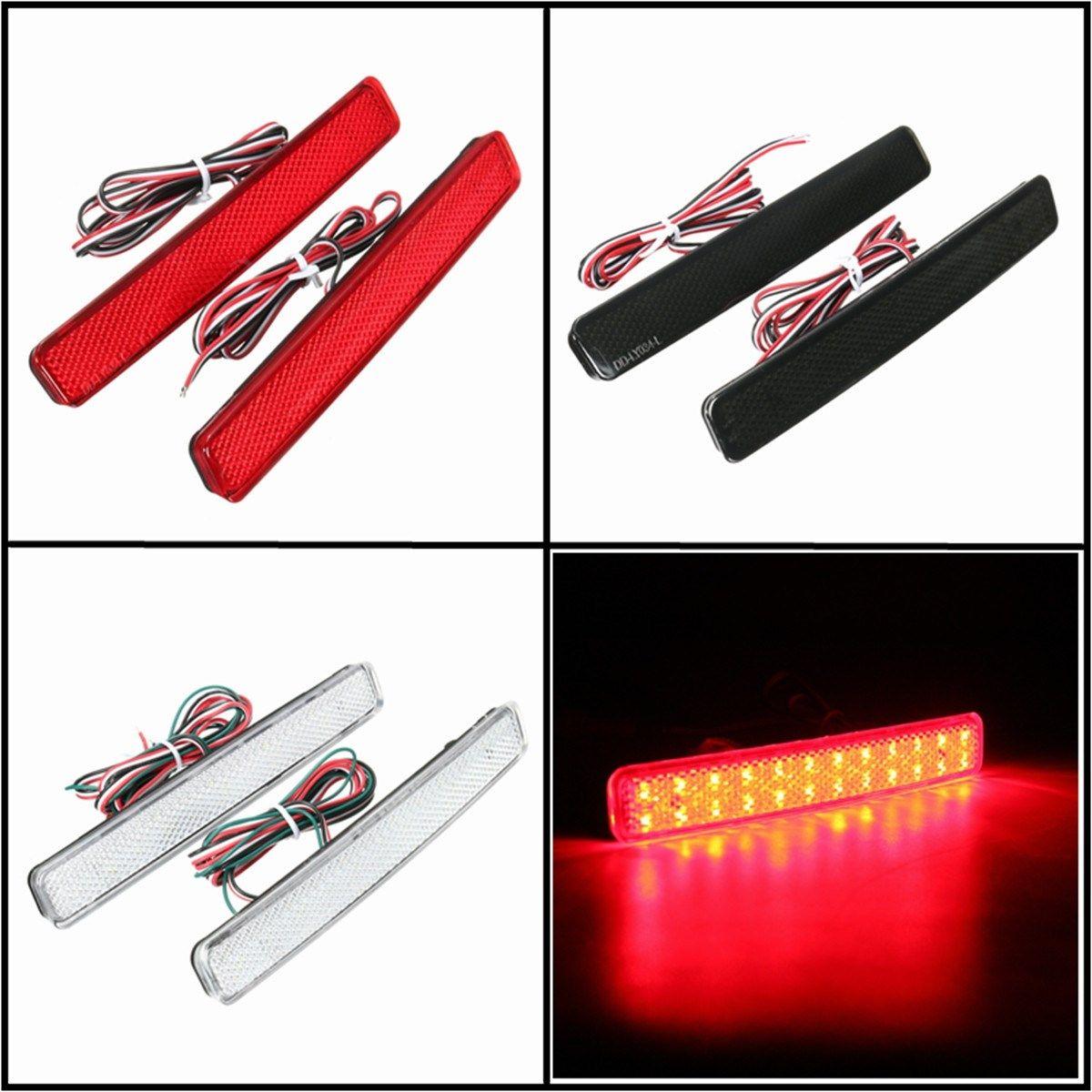 2x 24 LED Auto Rear Reflectors Bumper Tail Fog Lamp Brake Stop Night Running Lights Driving Reverse Light For VW/T5 Transporter
