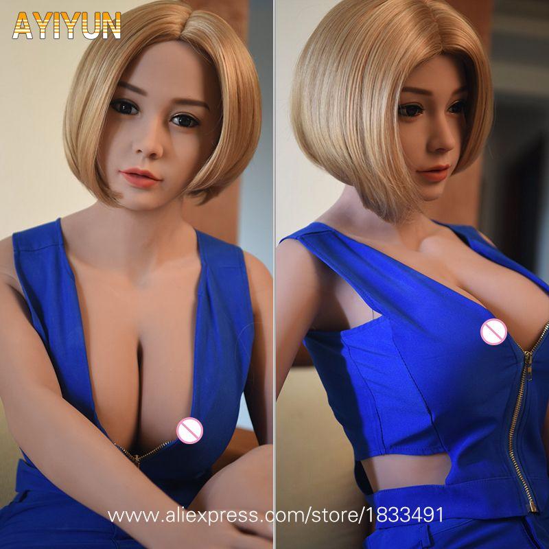 AYIYUN Top Qualität Echt Silikon Sex Puppe Realistische Mädchen Schaufensterpuppen Große Brust Erwachsene Sexy Puppe Japanischen Liebe Puppen für Männer