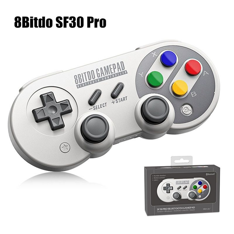 New 8Bitdo SF30 Pro Wireless Bluetooth Game Controller Gamepad with <font><b>Joystick</b></font> for Windows,Android,macOS,Steam,Nintendo Switch