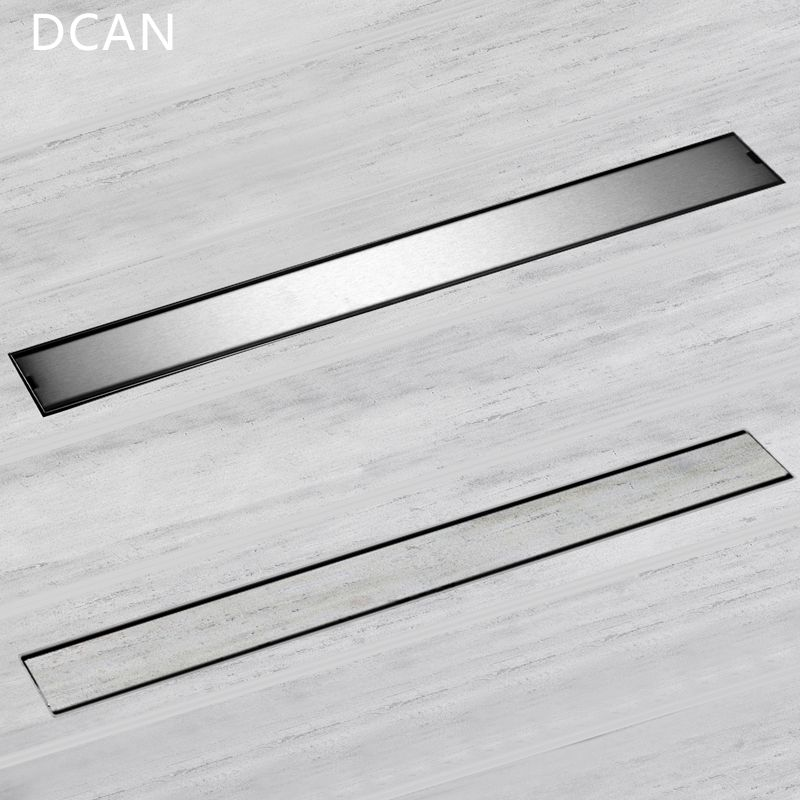 DCAN Linear ChannelFloor Drain Gate 60cm 80cm 100cm 120cm SUS304 Stainless Steel Deodorization Type Long Shower Floor Drain
