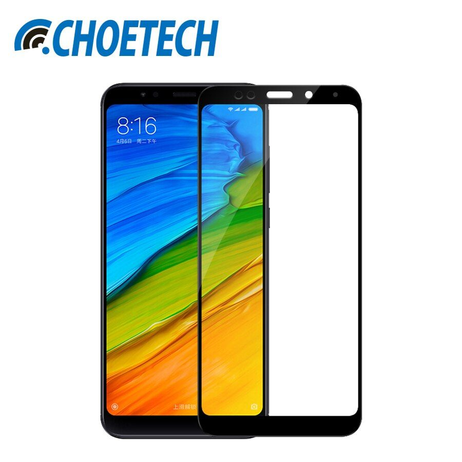 CHOETECH Glass For Xiaomi Redmi Note 5 Pro Screen Protector 9H Hardness Tempered Glass For Redmi 5 Plus Protective Film