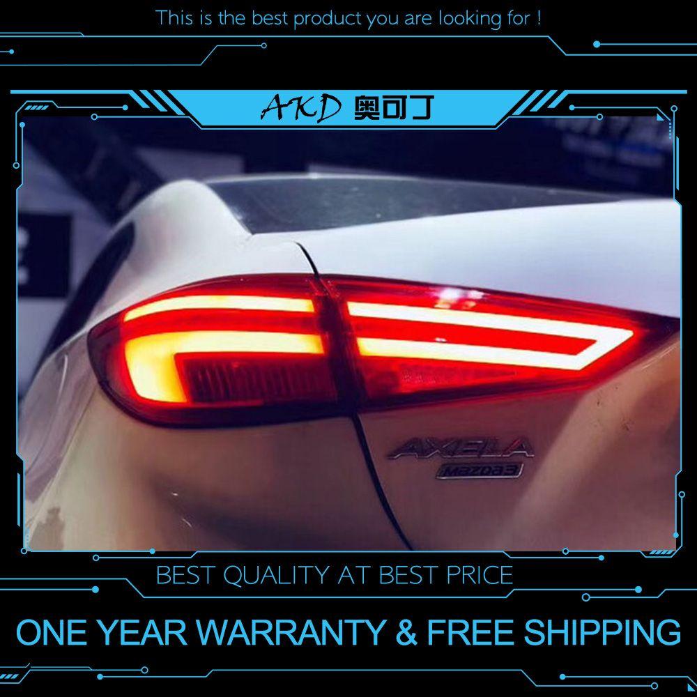 AKD tuning autos Schwanz lichter Für Mazda 3 Mazda3 Axela 2014-2018 Rückleuchten LED DRL tagfahrlicht Nebel lichter engel augen Hinten park