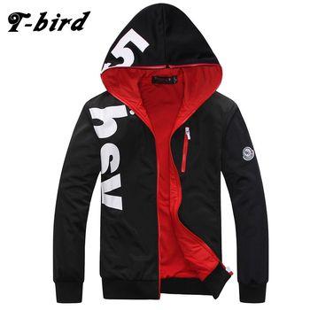 T-Bird 2018 New Fashion Hoodies Brand Men Printing Sweatshirt Male Hoody Hip Hop Autumn Winter Hoodie Mens Pullover Large Size