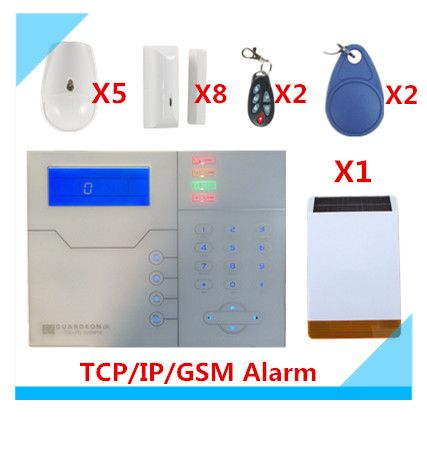 2018 Free shipping Web IE Control ST-VGT TCP/IP GSM Alarm System Home Security Alarm with Outdoor Solar Strobe Siren