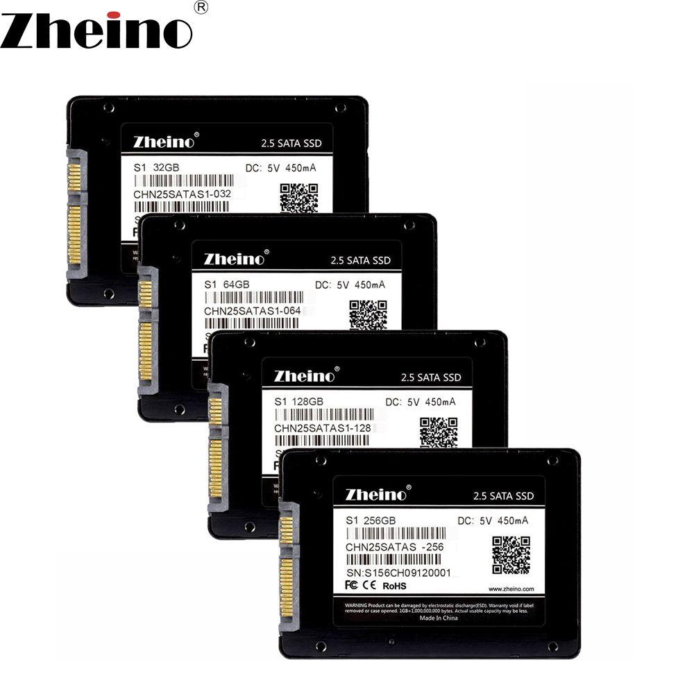 Zheino S1 2.5 pulgadas SATA 32 GB 64 GB 128 GB 256 GB SSD SATA3 Unidades de Disco Sólido interno (MLC NO TLC) 7mm unidad de Disco Duro para PC Laptop