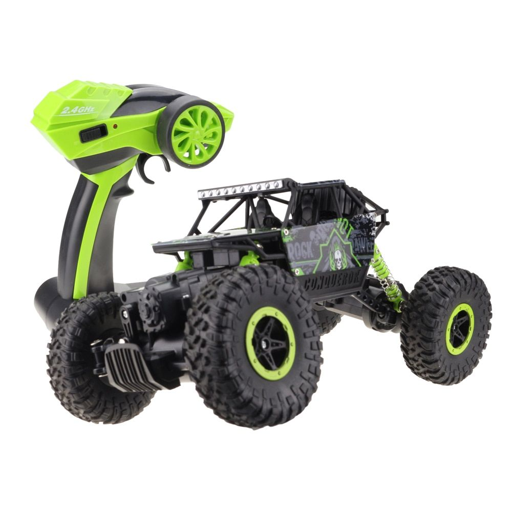 Lynrc RC Car 4WD 2.4GHz climbing Car 4x4 Double Motors Bigfoot Car Remote Control Model Off-Road Vehicle Toy
