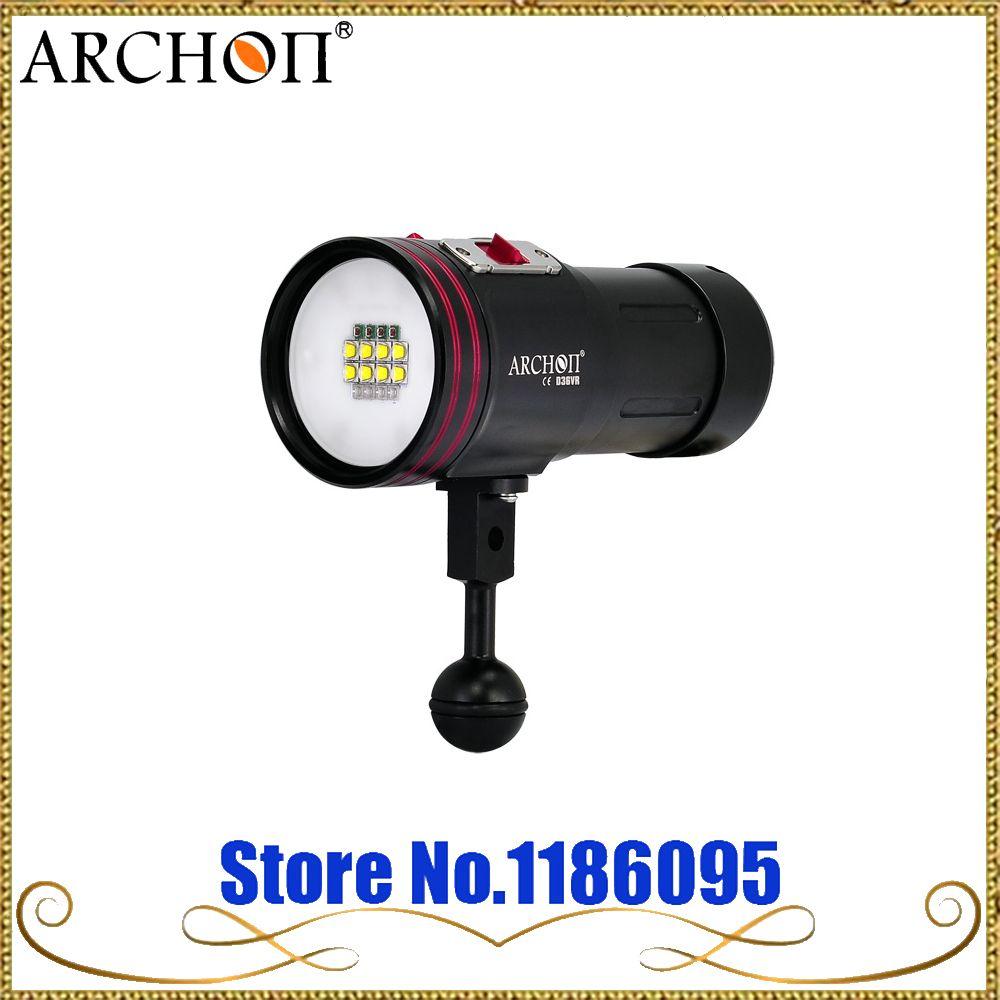 Freies Verschiffen ARCHON W42VR D36VR W42VR 5200lm Unterwasser Video Licht Tauchen Taschenlampe