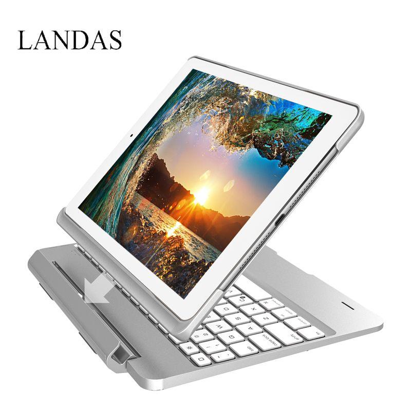 Landas Fall Tastatur Für Ipad 9,7 2017 Fall Tastatur Flip Bluetooth Hintergrundbeleuchtete Tastatur Abdeckung für iPad Pro 9,7