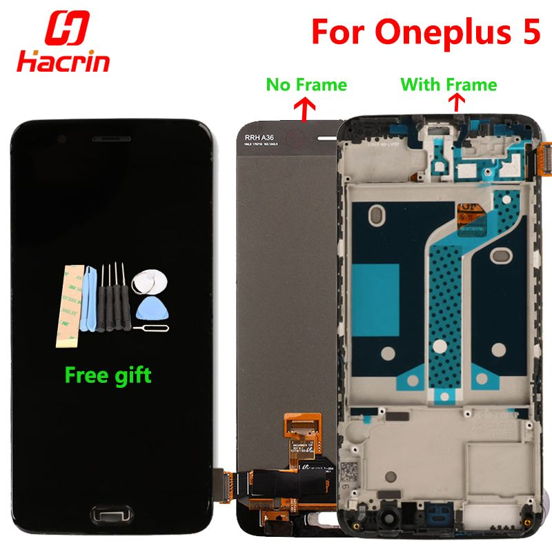 Oneplus 5 LCD display + Touch Screen Digitizer Premium Assembly Replacement for One Plus Five 5.5 inch 6GB 8GB RAM