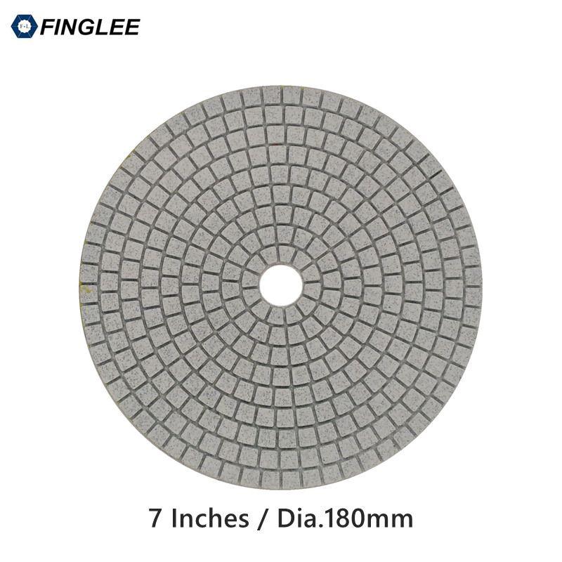 1 pièces de 7 pouces/180mm de Béton De Marbre de Granit En Céramique De polissage au Diamant Humide tampons De Polissage Pour La Pierre