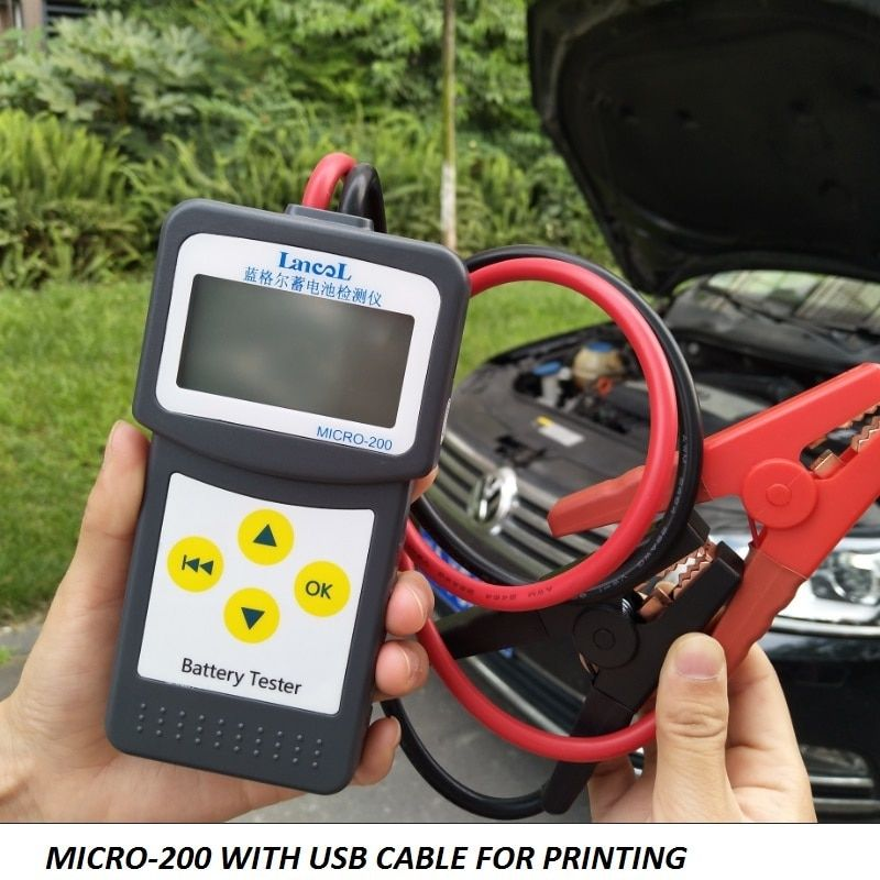 Lancol 12V Aumotive battery capacity tester Vehicle CCA  Car Battery Tester Analyzer MICRO-200 for Lead-acid