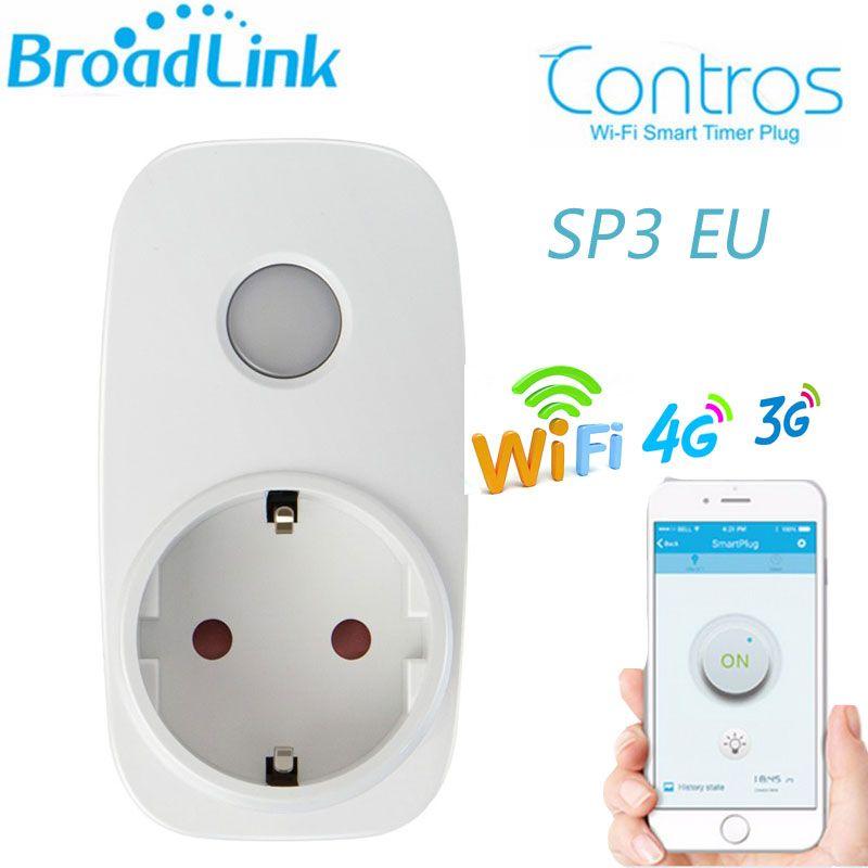 Broadlink SP3 SP cc мини ЕС contros Умный дом 16a таймер Смарт Wi-Fi разъем, IOS телефона Android Smart Remote Беспроводной Управление