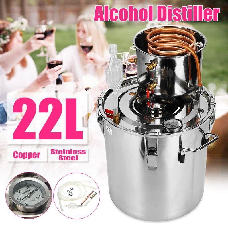 20L Distiller Moonshine Alkohol Edelstahl Kupfer DIY Home Wasser Wein Ätherisches Öl Brauen Kit