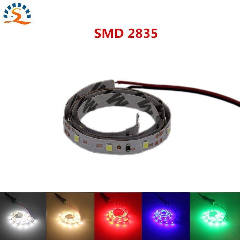 2017NEW 0.5m Ultra Bright 300leds 5m LED Strip Light Ribbon Flexible 60leds/m SMD 2835 12V DC Green Red Blub Warm White