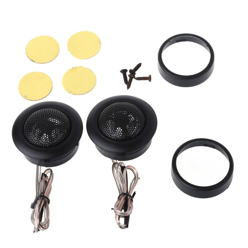 2X CAR Tweeter Super Power Loud Speaker for Car Stereo Flush/Surface Mount 49mm Diameter Dome Small Car Audio Component Speakers