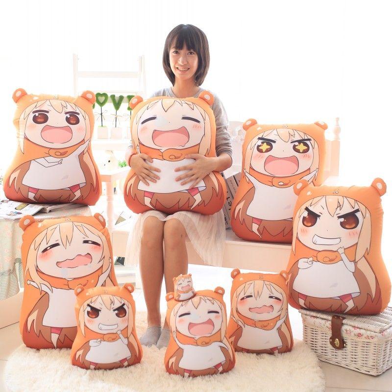 2016 New Sankaku Head Himouto Umaru Chan Umaru Doma Cosplay MARMOT Short Velvet Puppets And Humanoid Doll Free Shipping