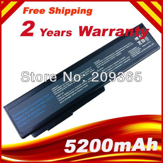 Wholesale New 6cells laptop battery FOR ASUS G50 G60 L50 M50 M51 M60 M70 N61 Series A32-H36 A32-M50 A32-N61 free shipping