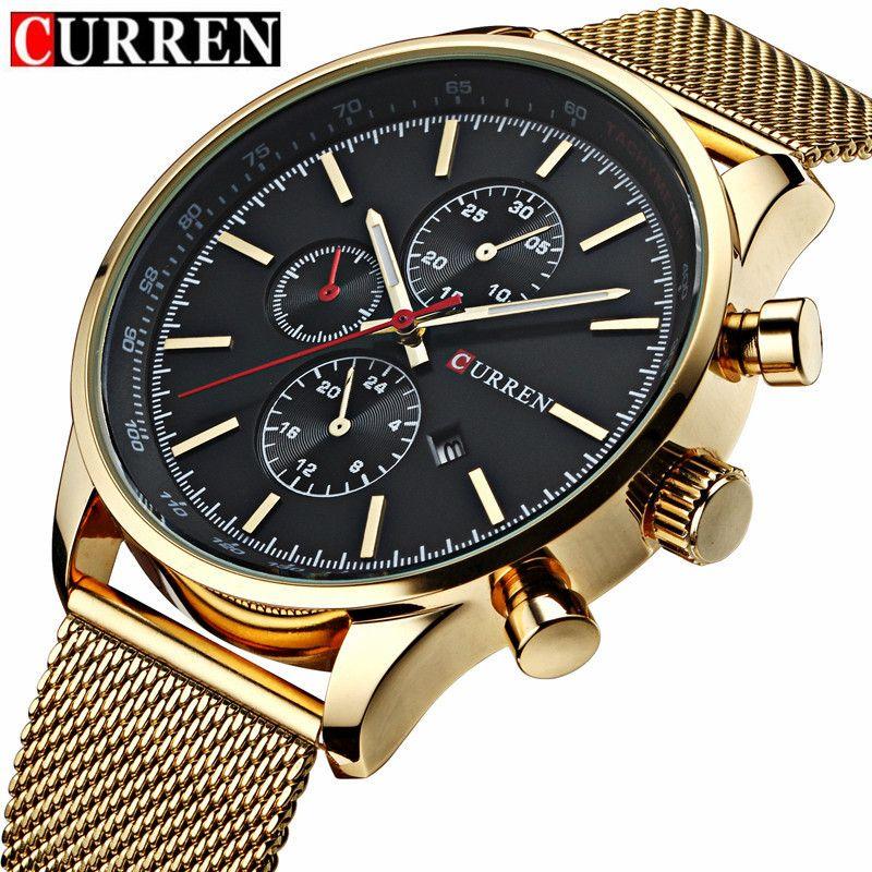 CURREN Men's Quartz Watches Fashion Casual Full Steel Sports Watches Men Business <font><b>relojes</b></font> Quartz watch Relogio Masculino 8227