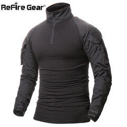 Refire Gear camuflaje del ejército camiseta hombres ee.uu. RU soldados combate Tactical t-shirt fuerza militar MultiCam CAMO manga larga camisas