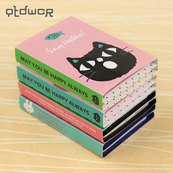 Шт. 1 шт. Творческий 180 страниц стикеры мини животных заметки 4 складной блокнот подарки школьные канцелярские принадлежности
