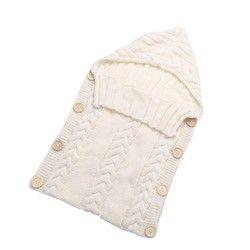 Nouveau-né Bébé Wrap Swaddle Couverture 0-12 Mois Enfants En Bas Âge Laine Tricot Couverture Swaddle Bébé Sac de Couchage Sac de Sommeil poussette Wrap