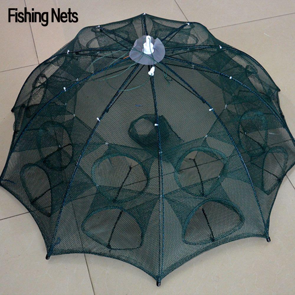NEW Automatic Fishing Net Shrimp Cage Nylon Foldable Crab Fish Trap Cast Net Cast Folding Fishing Network Free Shipping