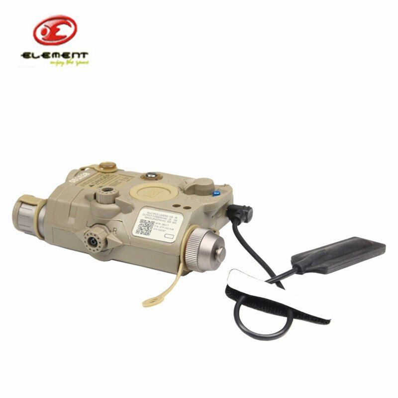 Element EX396 LA-5 UHP Battery Case with Red Laser IR Lens LED Flashlight DE Aiming Light Battery Case For Hunting Shooting