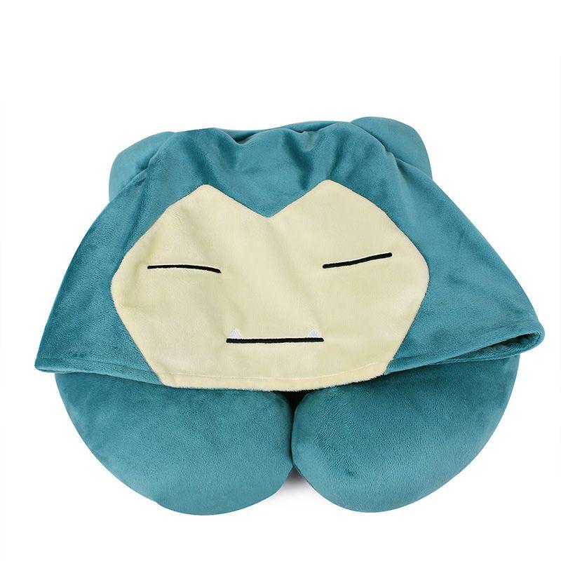 ZHAIDIANSHE anime snorlax bolster Japanese short plush pillow nap U-shape travel pillow kids gift toys for children