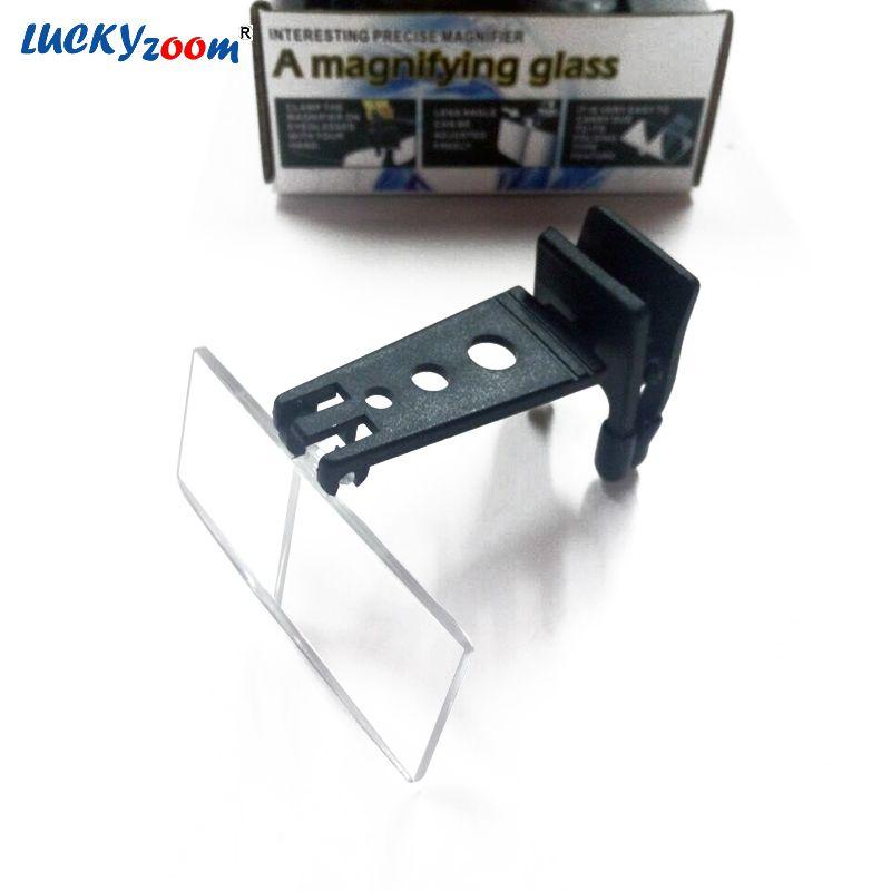 1.5X 2.5X 3.5X Clip-on Brillen Typ Folable Lupe Lesung Glas Mit 3 STÜCKE Harz Objektiv Lupe Freies verschiffen