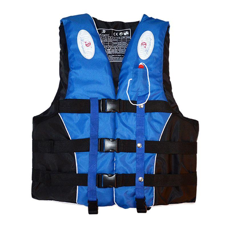 Polyester adulte enfants gilet de sauvetage veste natation nautisme Ski dérive gilet de sauvetage avec sifflet M-XXXL tailles Sports nautiques homme veste