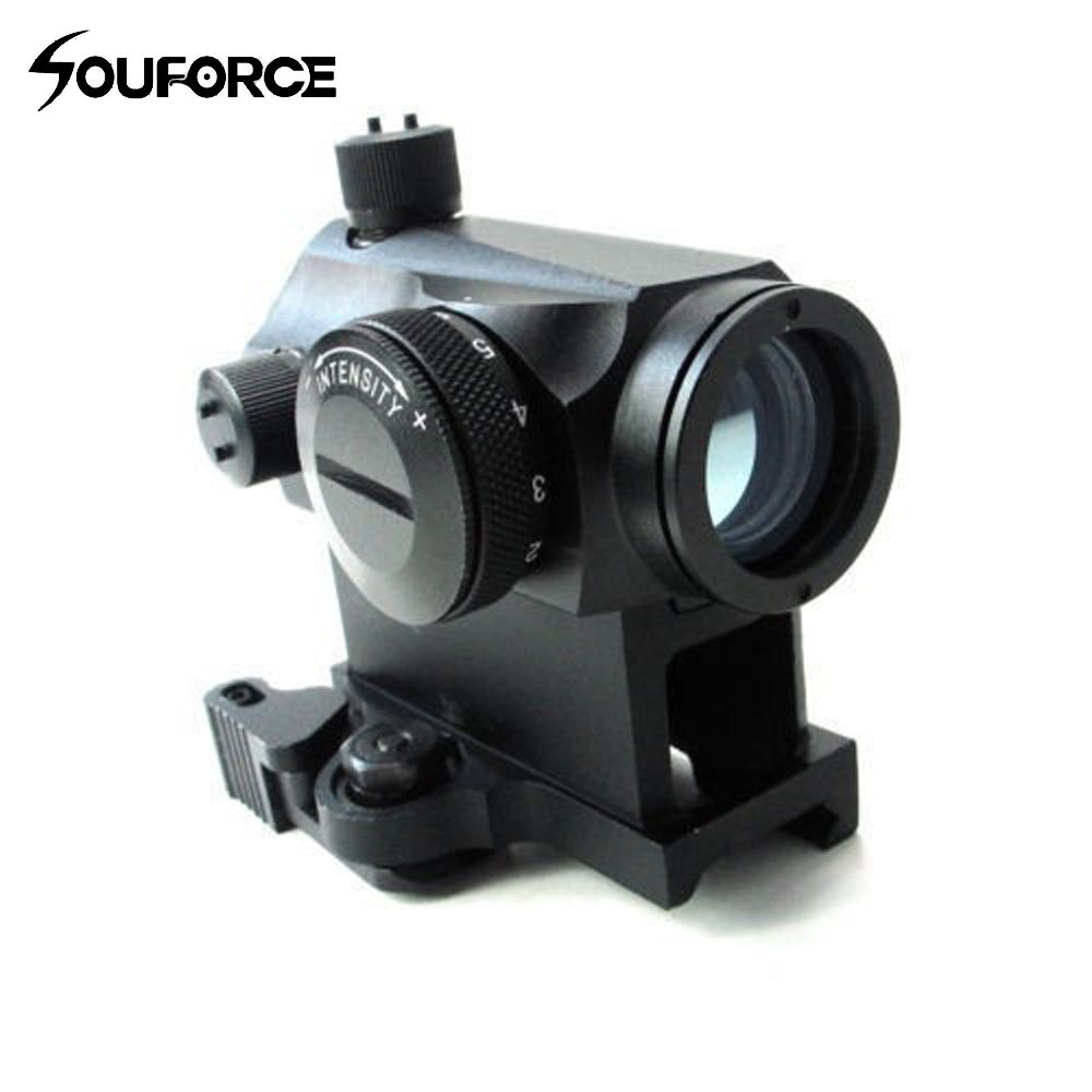 Mini 1X24 Rifescope Sight Illuminated Sniper Red Green Dot Sight With Quick Release Red Dot Scope Mount For Hunting Air