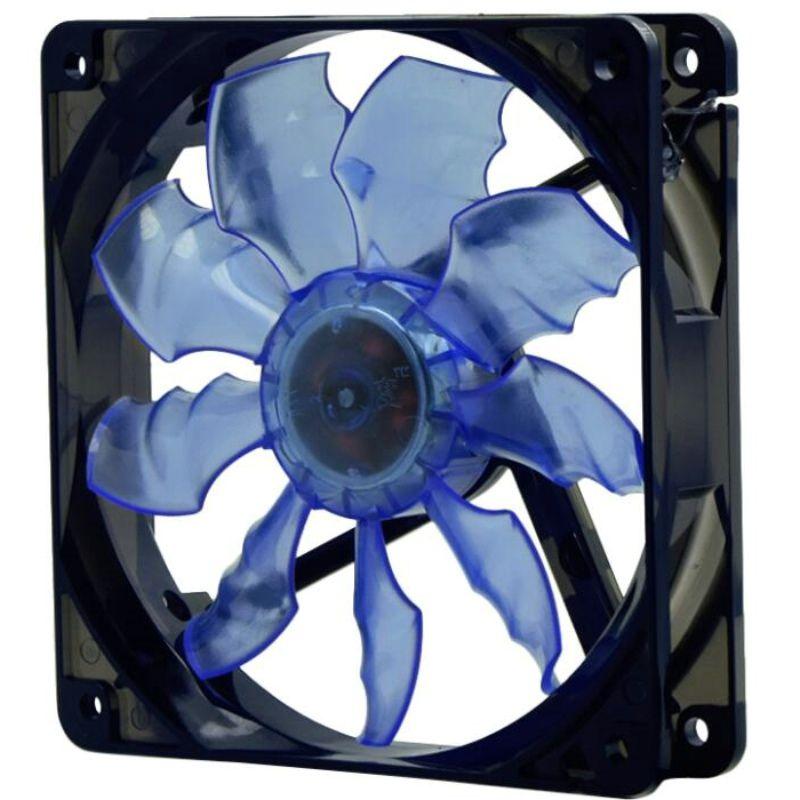 Arsylid TW-1225L alta calidad 12 cm 120mm ventilador LED azul color rojo LED luz ventilador para caja de la computadora
