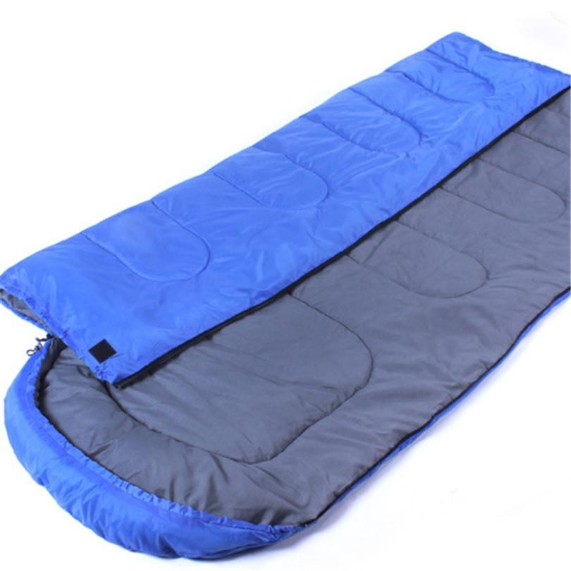 Multifuntion Outdoor Camping Thermal Sleeping Bag Winter Envelope Hooded Sleeping Bags Travel Thick warm Sleep Bag 3 Colors Q027