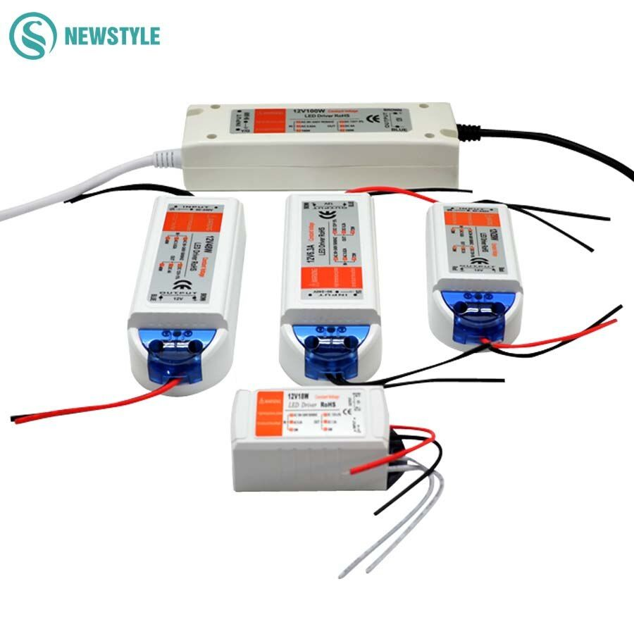 LED Driver AC 110V 220V to DC12V Led Power Adapter Transformers for LED Strip 18W 28W 48W 72W 100W Power Supply