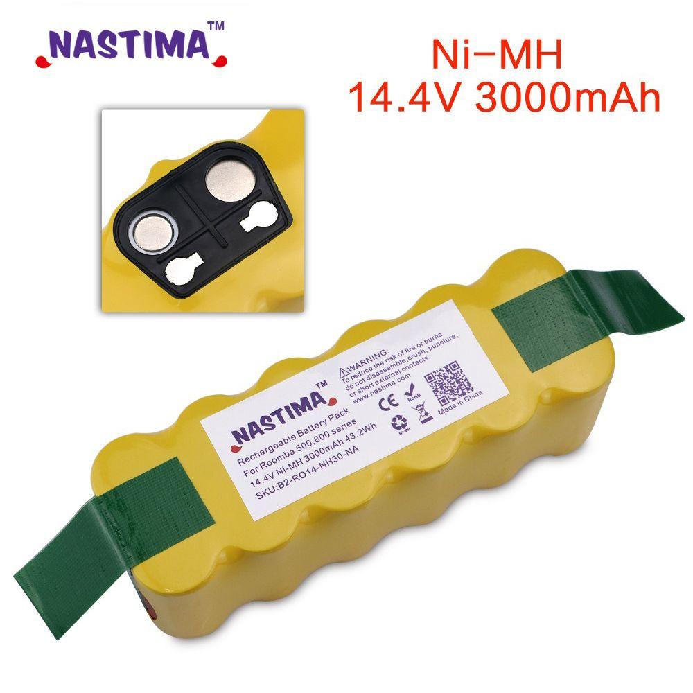 NASTIMA Remplacement 3000mAh Batterie XLife Prolongé pour iRobot Roomba 500 600 700 800 Série Aspirateur iRobots