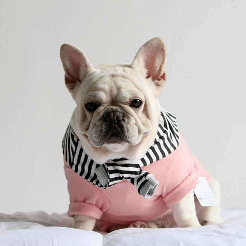 [MPK Shop] Tsi-Pet Striped Schal Kragen Kleidung Haustier Hund Kleidung, Katze Kleidung