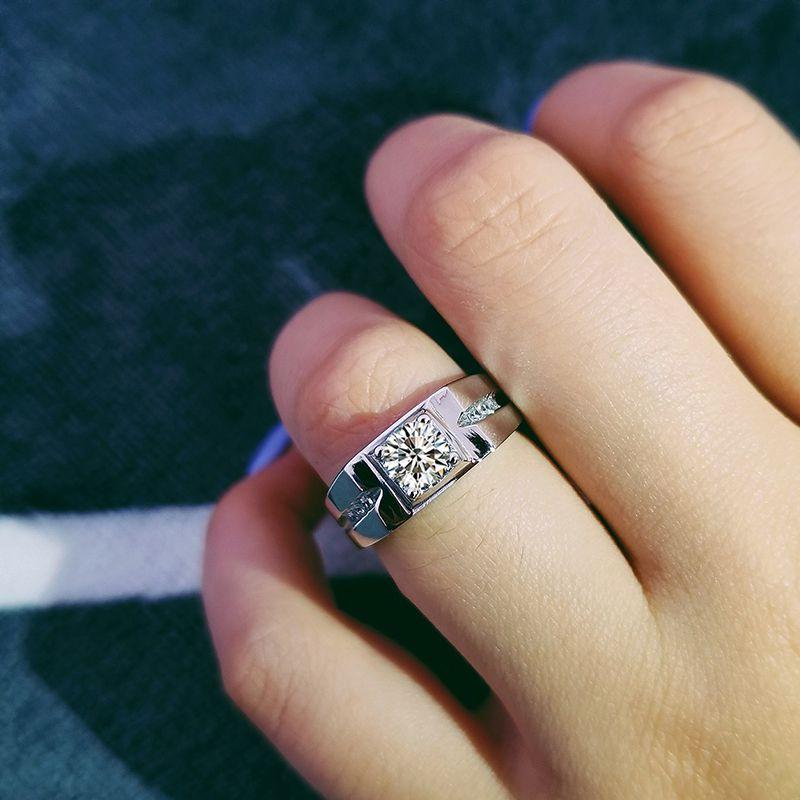 2018 Новый Moonso 925 пробы серебряные мужские кольца для мужчин свадебные Обручение Мода палец ювелирные изделия R207